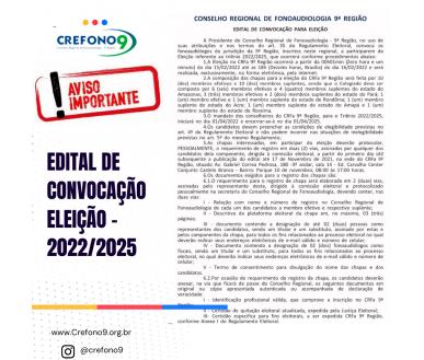 [EDITAL DE CONVOCAÇÃO ELEIÇÕES - TRIÊNIO 2022/2025]